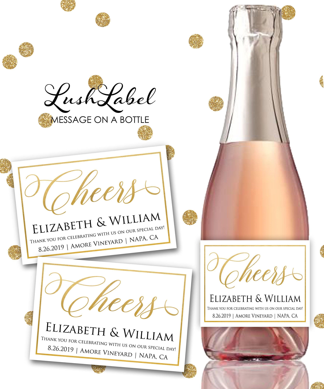 Wedding Cheers Thank You New Mr Mrs Wine Champagne Mini Toast New ...