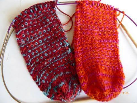 nadelspiel Sockenkalender * 2 Socken gleichzeitig stricken * Ferse ...