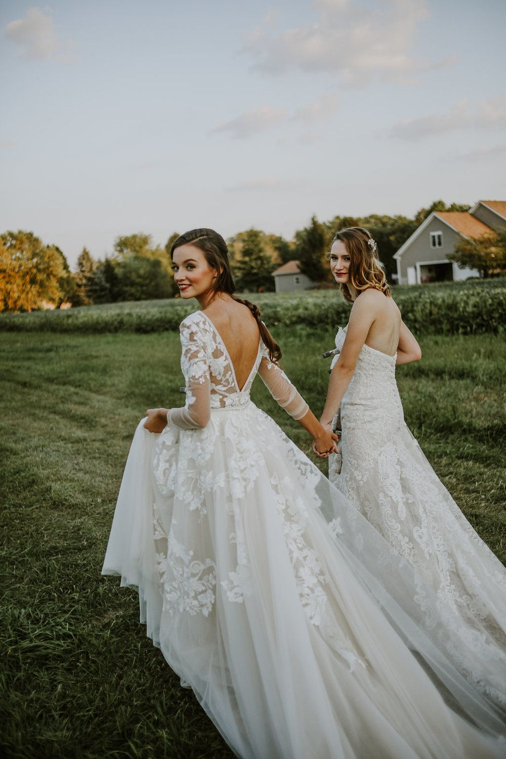 lesbian chicago wedding, hair and makeup by chicago bridal