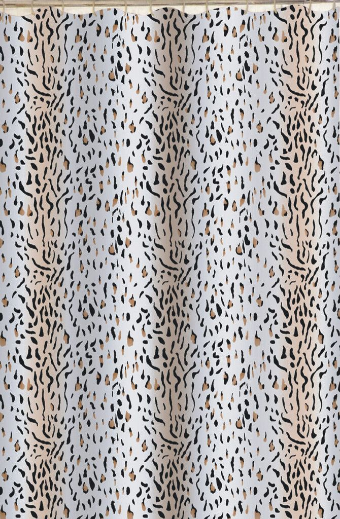 Animal Print Safari Theme Fabric Shower Curtain