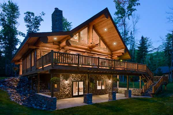Log home designs beautiful modern houses for unmatchable for Log and stone home plans