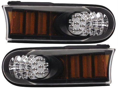 Anzo USA 511078 Black LED Parking Light with Amber Reflector for Toyota Fj Cruiser