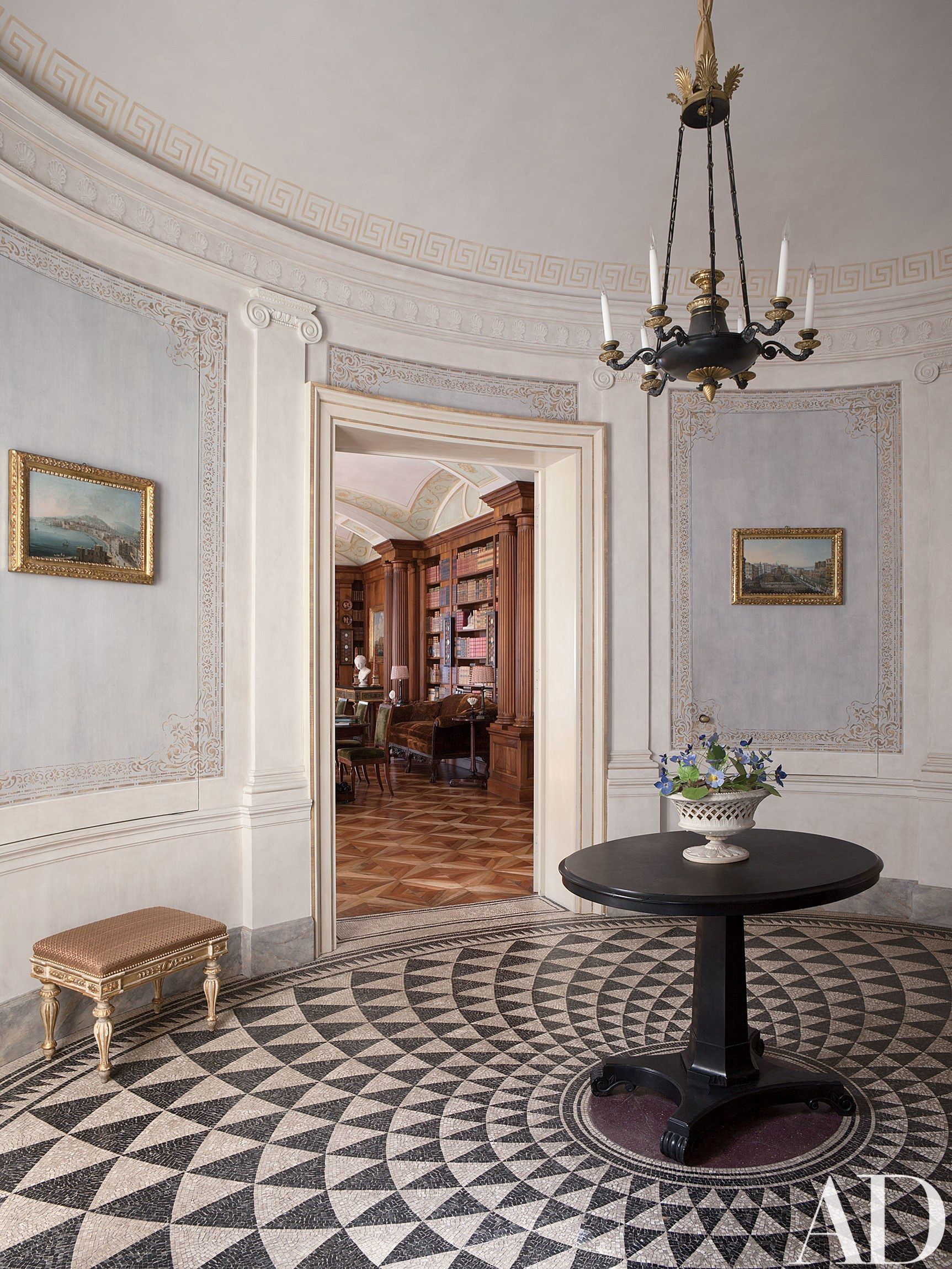 Look inside a luxurious apartment in naples with plenty of old world charm photos architectural digest