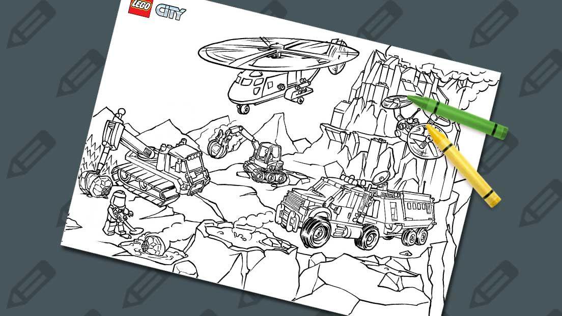 Volcano Explorers 2 | LEGO® Coloring Sheets | Pinterest