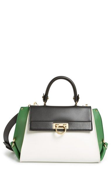 Salvatore Ferragamo  Sofia  Colorblock Leather Satchel available at   Nordstrom d22fc650af