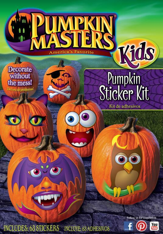 Are Your Kids Too Young To Use Pumpkin Decorating Tools The Masters Sticker Kit Is Perfect Way For Get In On