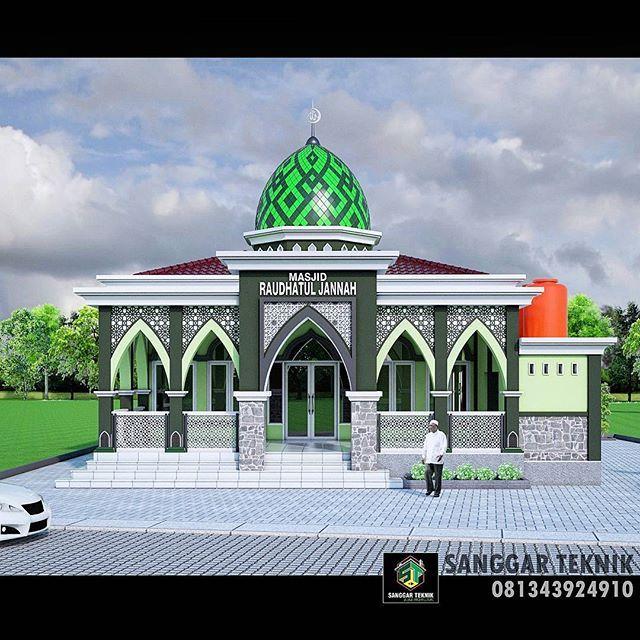 Contoh Kombinasi Warna Cat Masjid