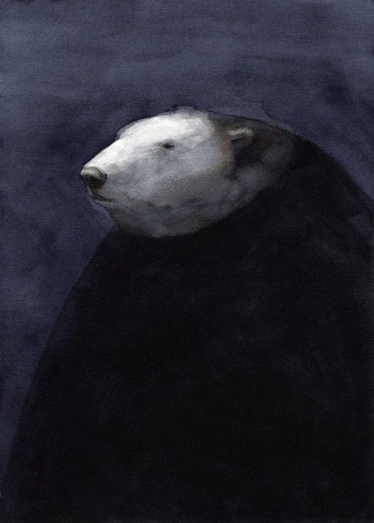 Bear in Black Coat by Akitaka Ito