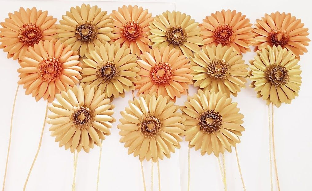 Small Paper Gerbera Template Soon To Be Available On Our Etsy Shop