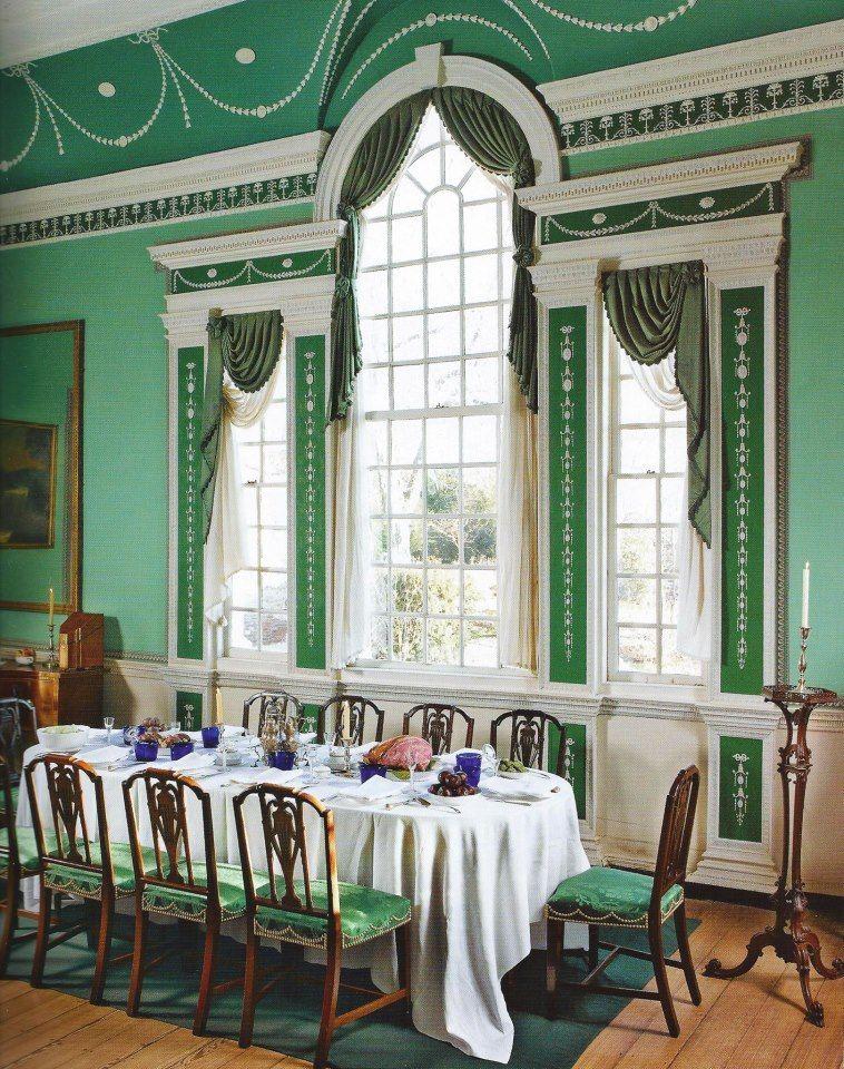 George Washington S Large Dining Room At Mt Vernon Large