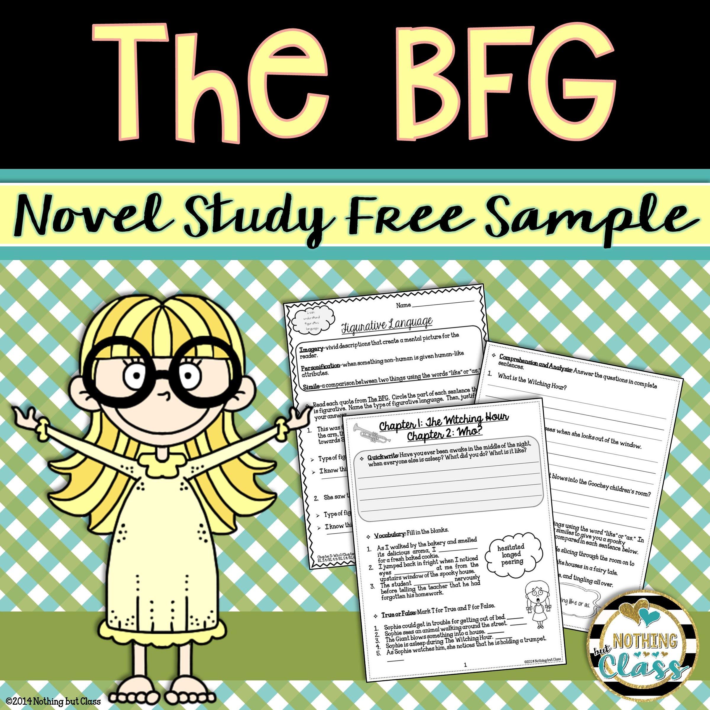 The Bfg Novel Study Unit Free Sample