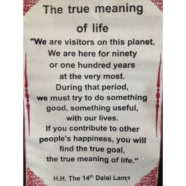 the meaning of life quotes quotes wall hangings > dalai lama  quotes wall hangings > dalai lama quote