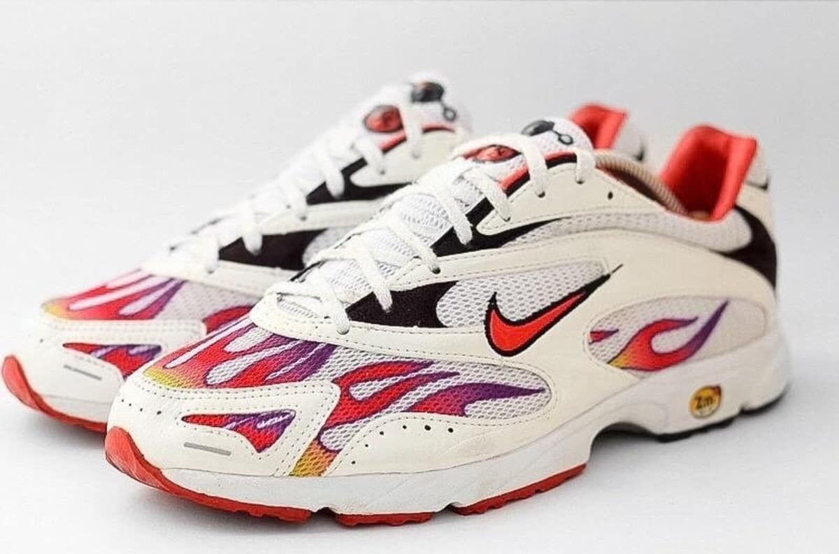 d00c0c58344c5 Supreme x Nike Zoom Streak Spectrum Plus Release Date  06 14 18 Color  White  Habanero Red-Black Style    AQ1279-100 Price   160   bit.ly lovesneakernews