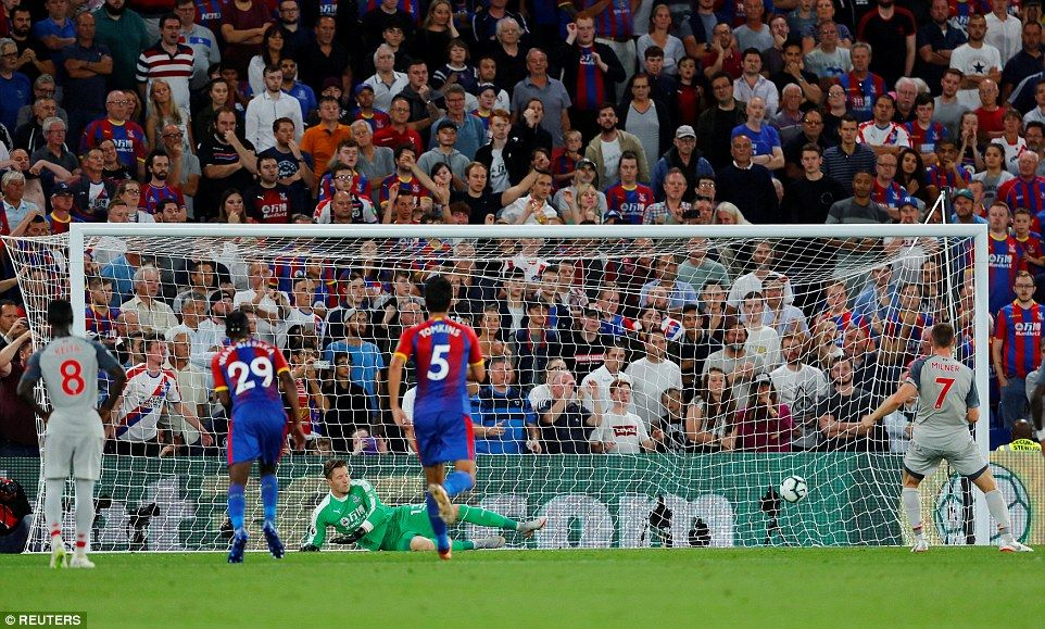 Crystal Palace 02 Liverpool Milner and Mane keep up