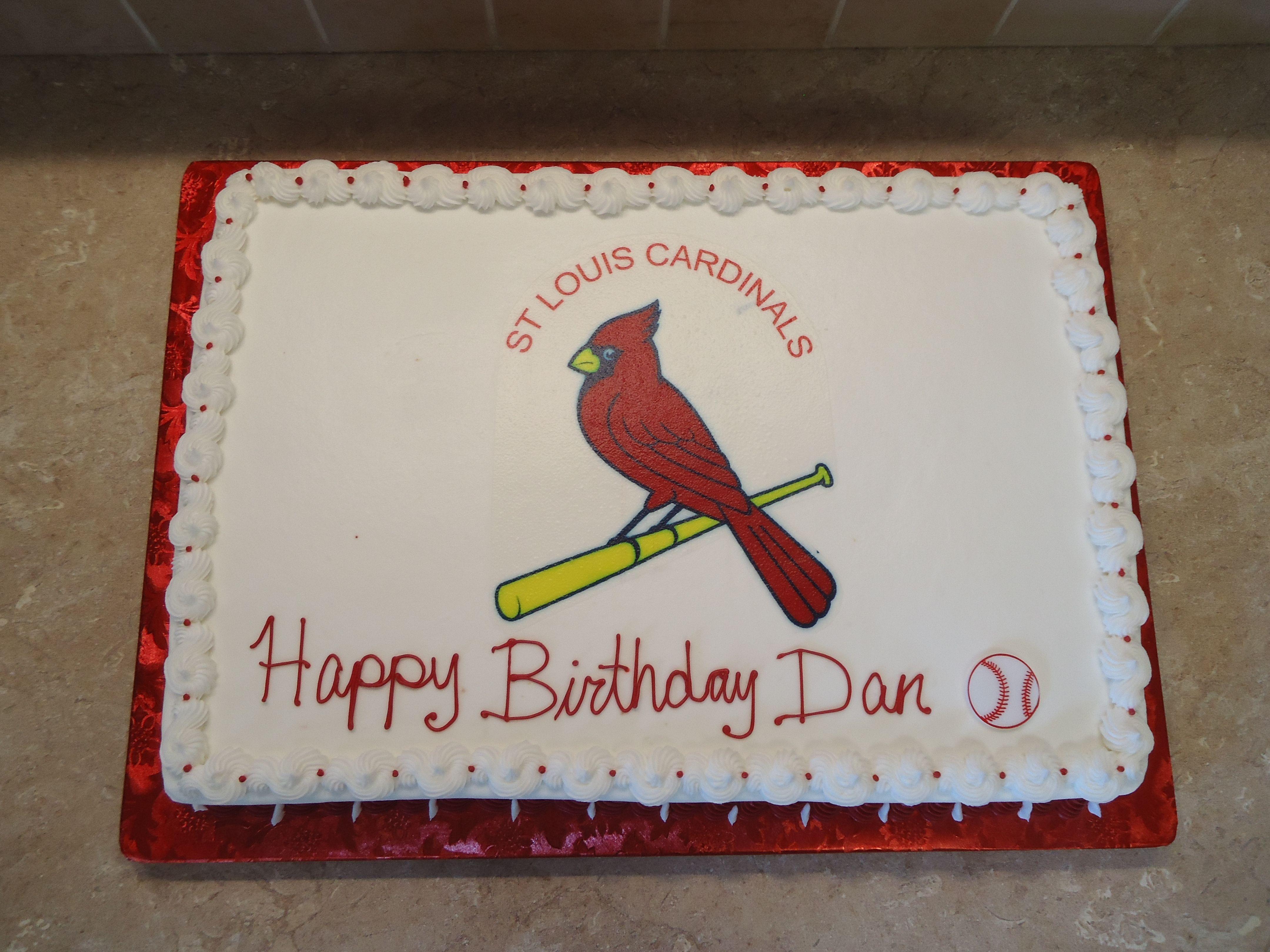 St Louis Cardinals Birthday Cake The St Louis Cardinals Was An