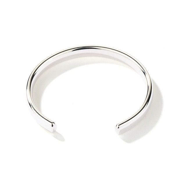 9d0bfbc62 Solid 9ct white Gold 6mm open flat shape Bangle 18 grams Solid Silver  Bangles, Gold