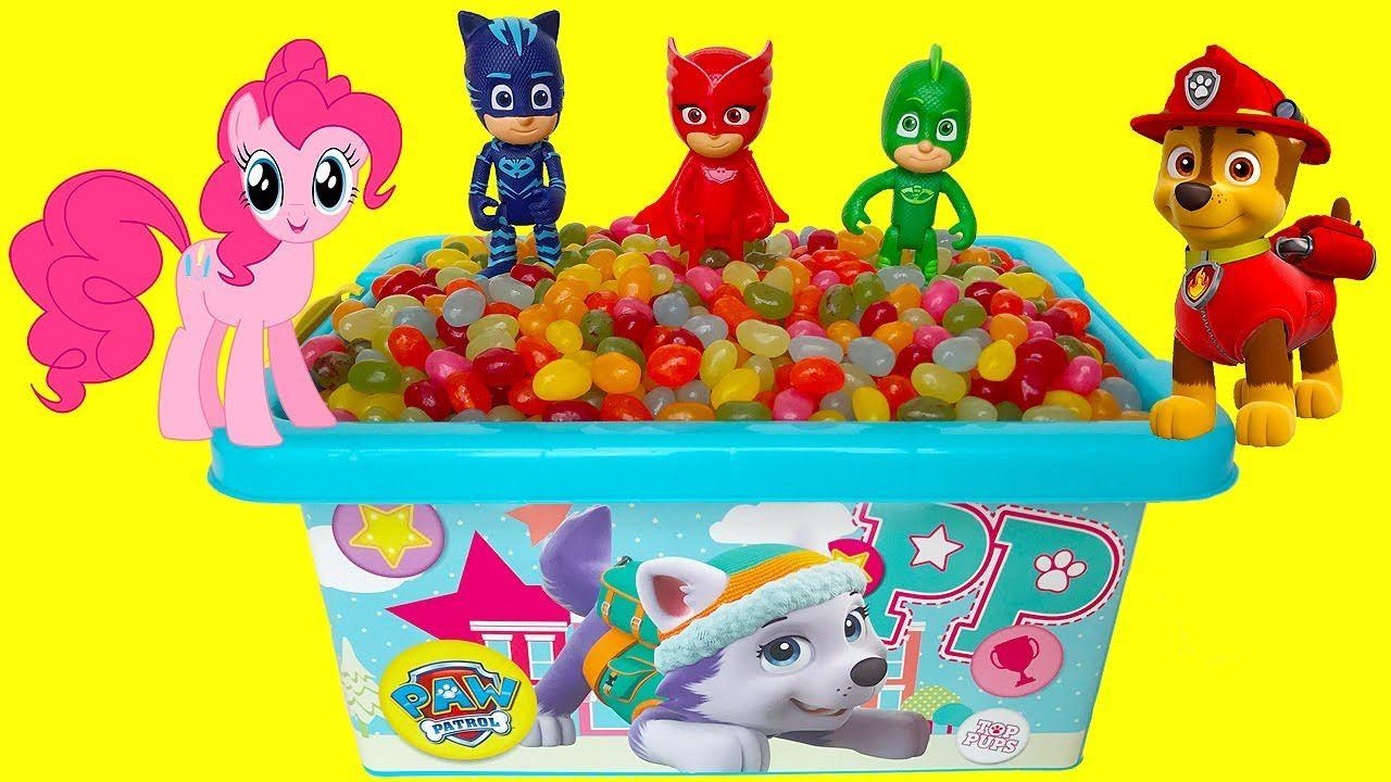 Paw Patrol TOY Box Jelly Beans SURPRISES PJ MASKS Owlette Gecko Catboy