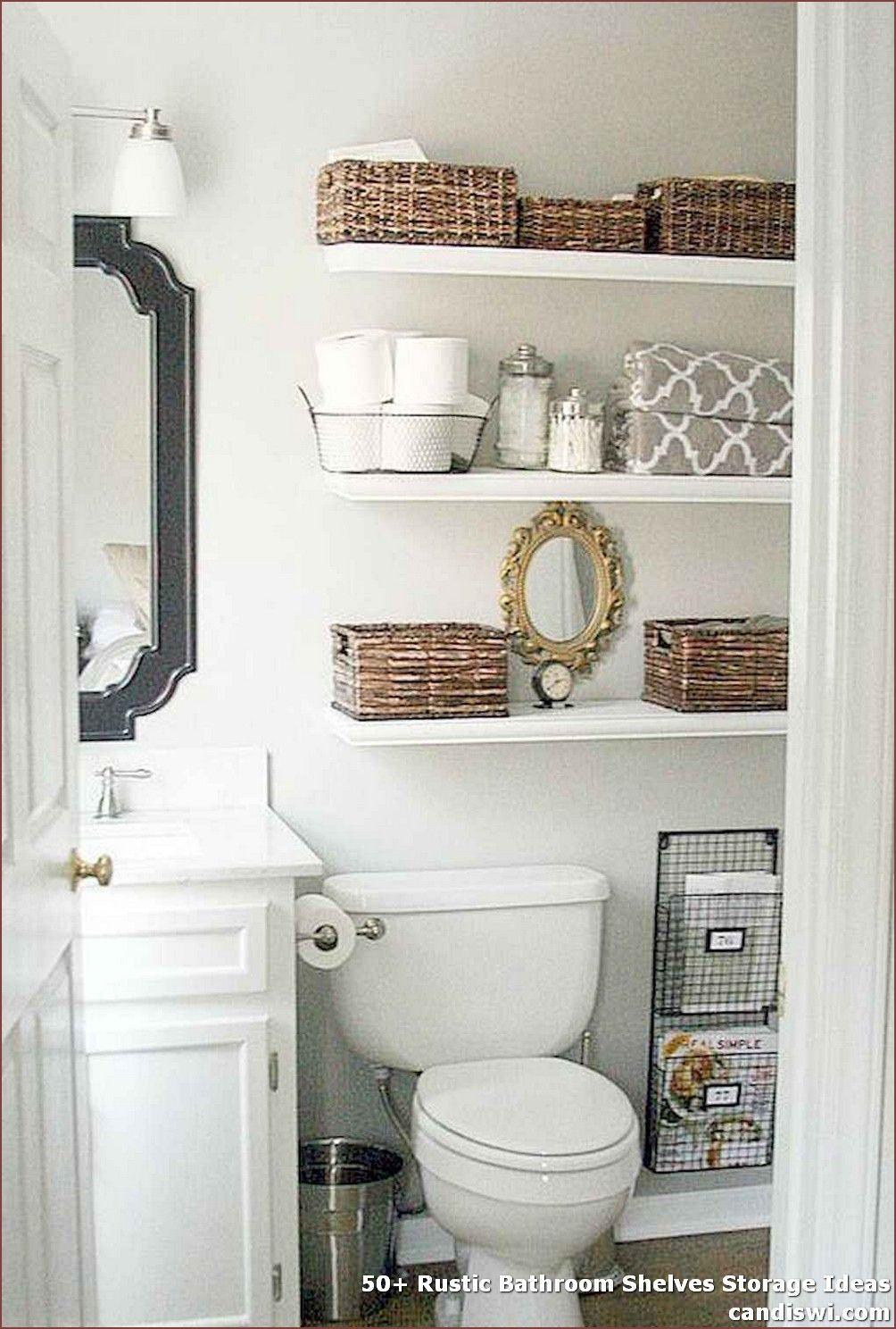 ✓ 20+ Rustic Bathroom Shelves Storage Ideas   Rustic bathroom ...