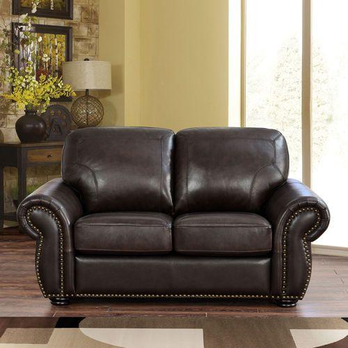 Costco Wholesale Living Room Redo Top Grain Leather Love Seat