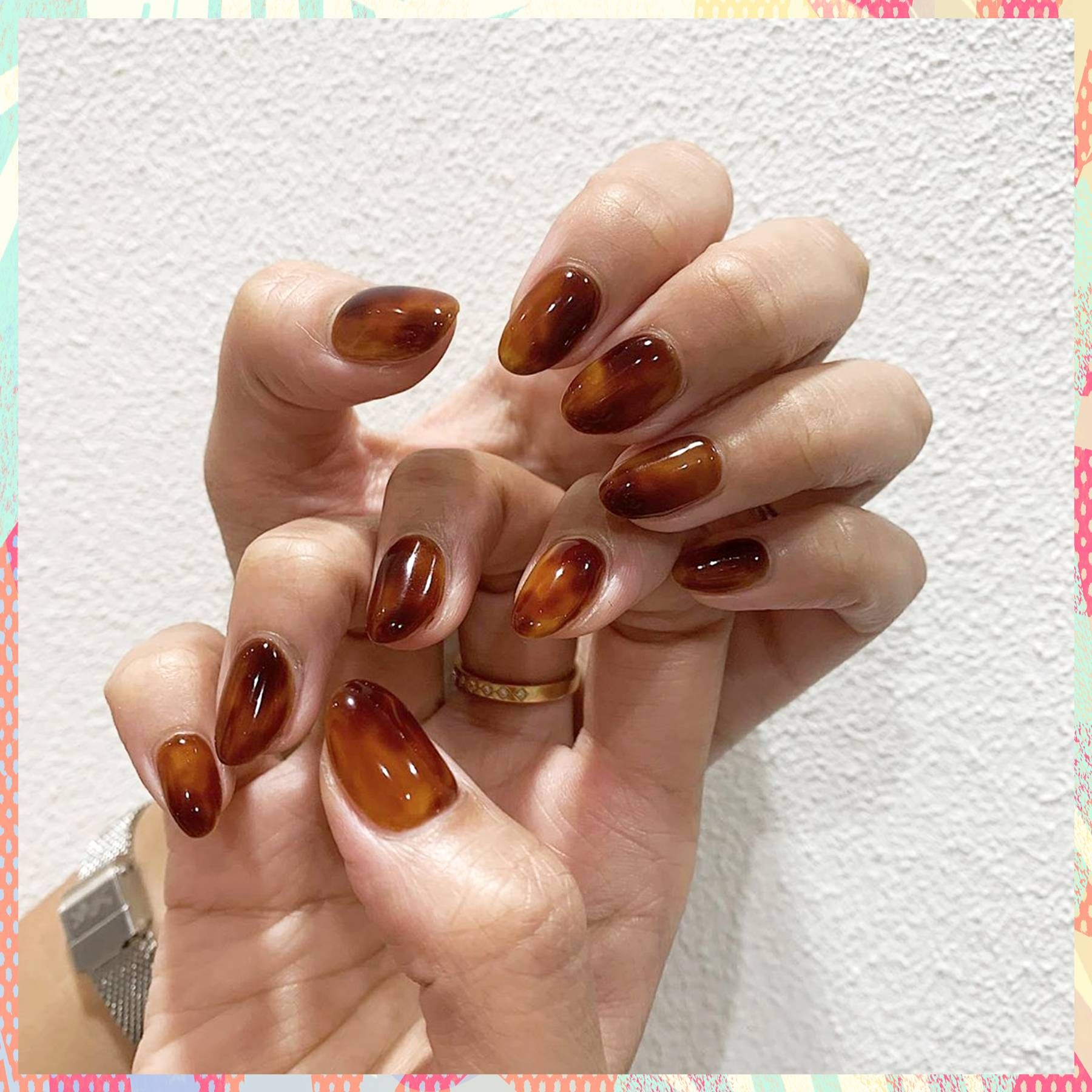 Tortoiseshell nails are Autumns coolest manicure trend for 2019