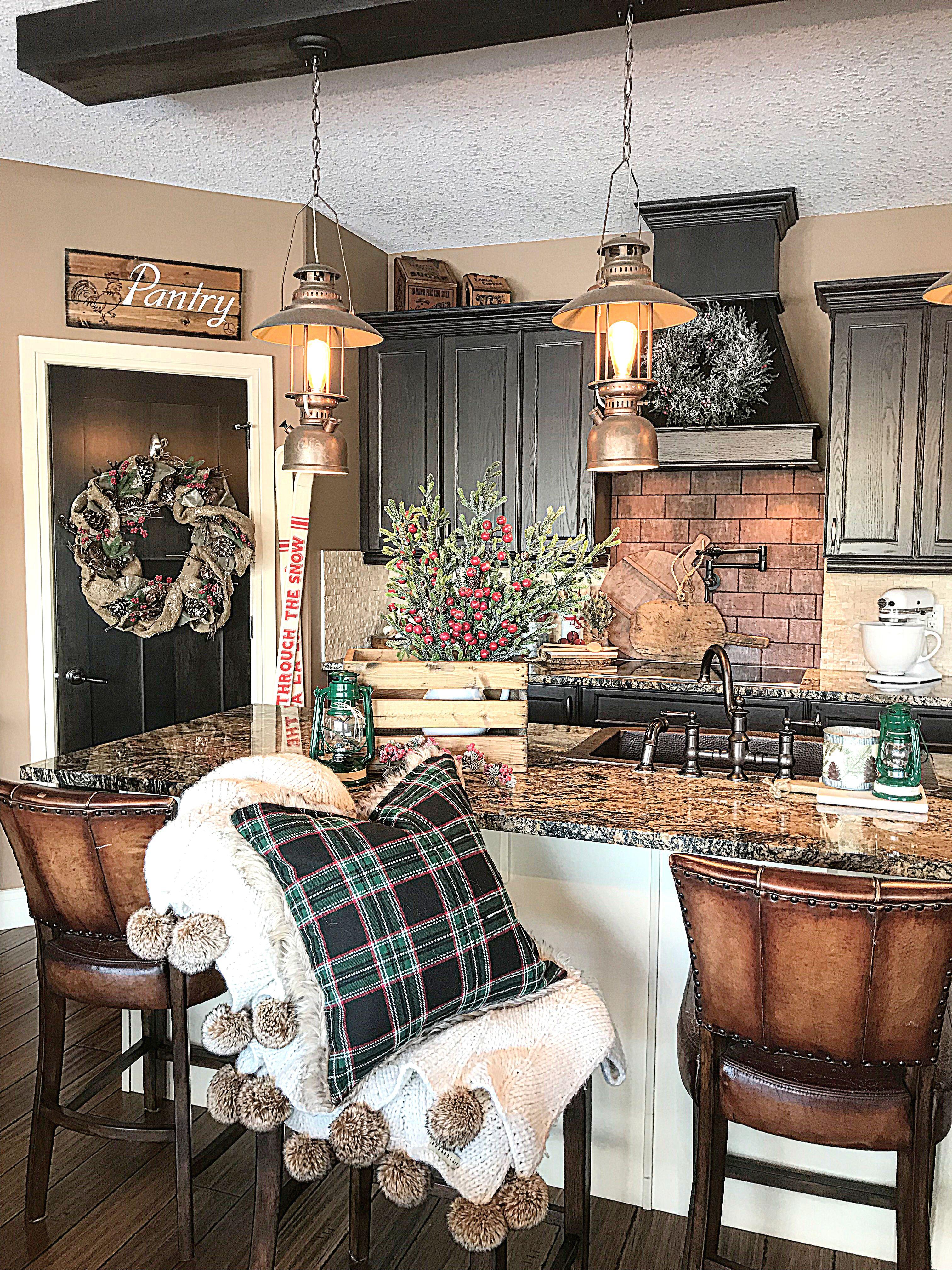 kitchendesign kitchencabinets farmhouse farmhousestyle farmhousedecor rustichomedecor on farmhouse kitchen xmas id=81462