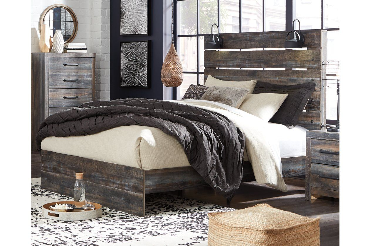 Drystan Queen Panel Bed With 2 Nightstands Ashley Furniture
