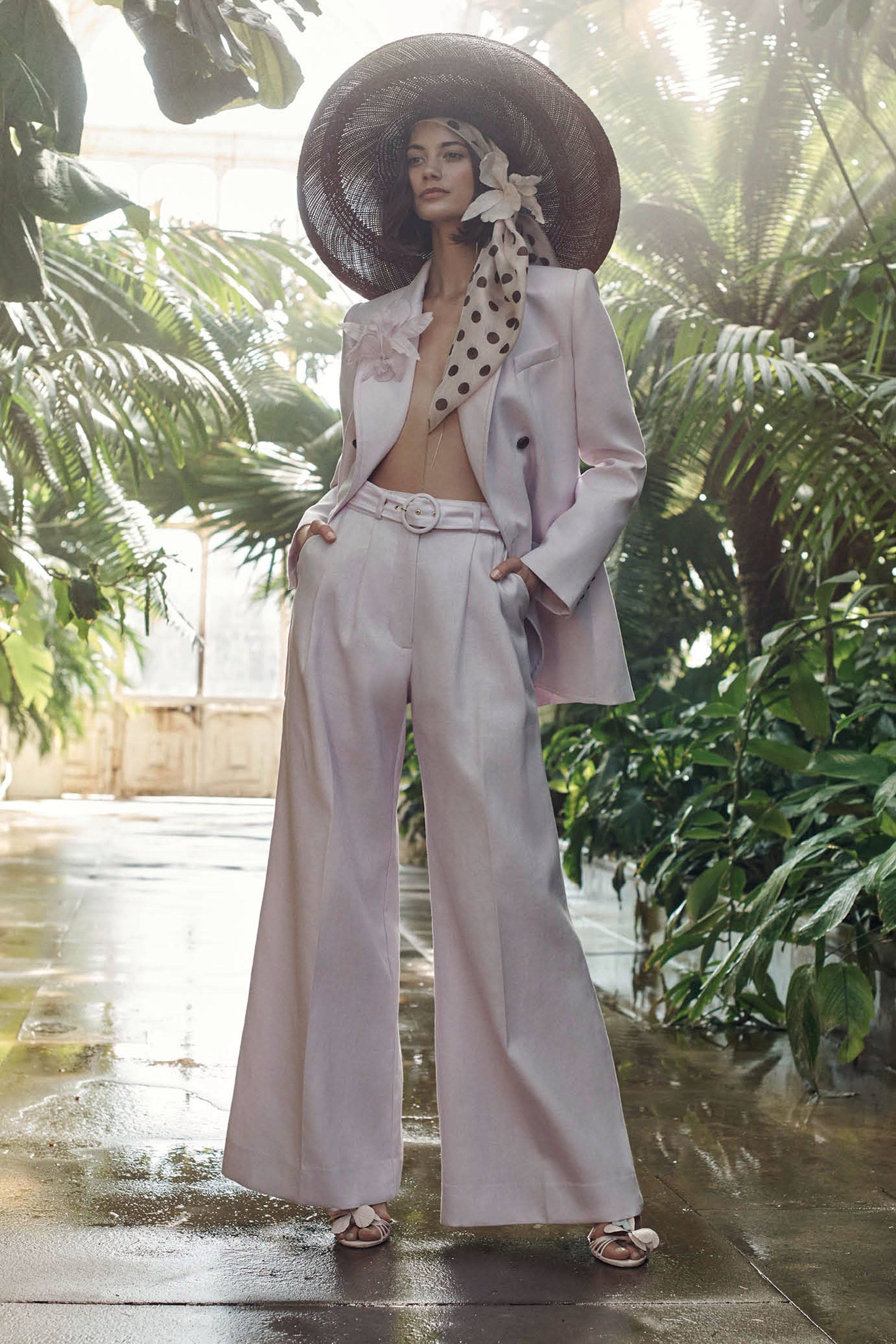 Lace dress midi march 2019 Zimmermann Resort  Fashion Show  flared bellbottom bootcut