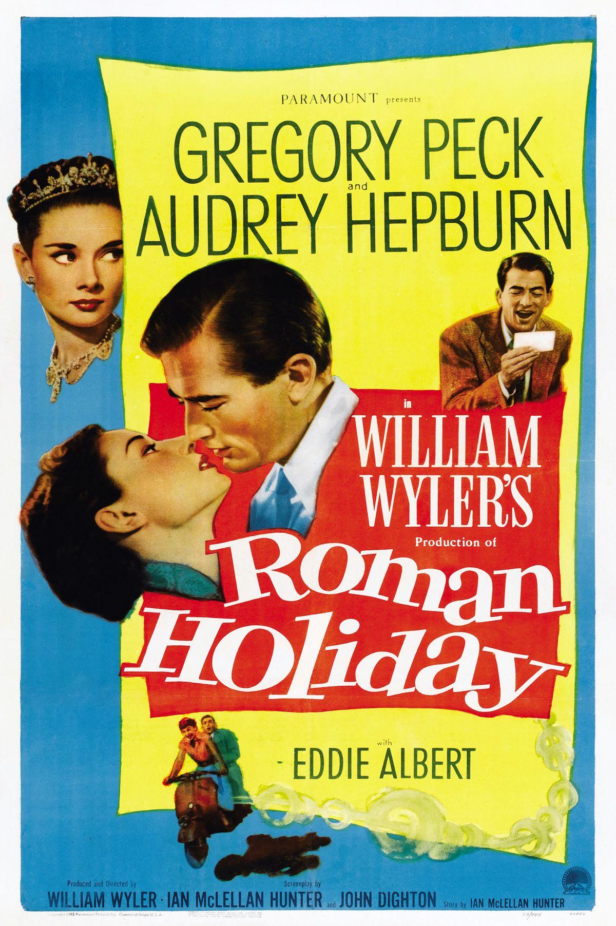 Roman Holiday, Gregory Peck, Audrey Hepburn, 1953 Roll