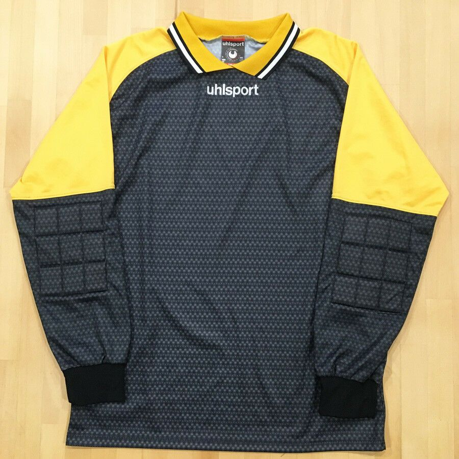 23ee526b0 Vintage Uhlsport Jersey Goalkeepers Soccer Shirt Padded Sleeves Elbow SZ M  - Soccer Shirt  soccershirt