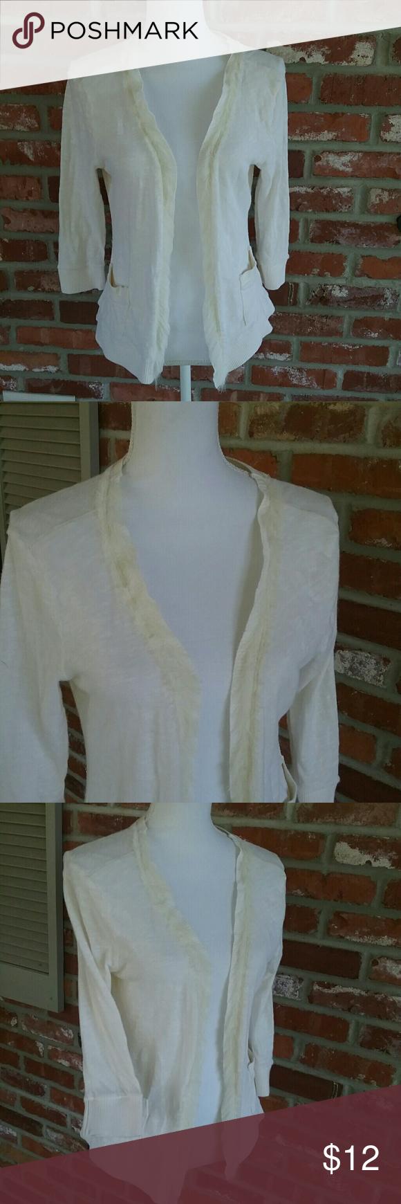 Decree Cream SUMMER Cartigan Shrug Medium | Sweater cardigan ...
