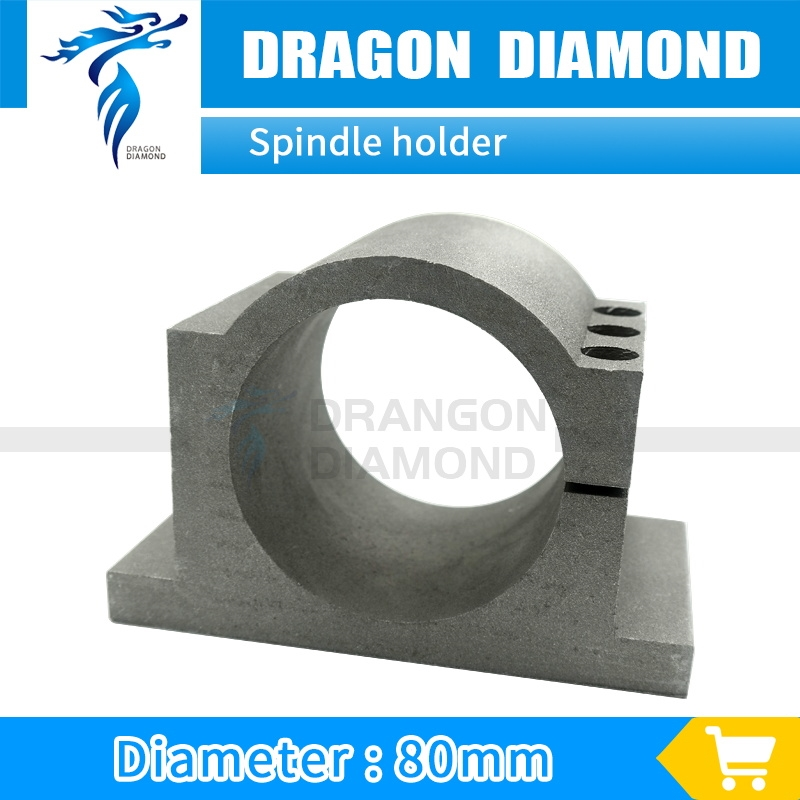 50.00$  Buy here - http://alivap.worldwells.pw/go.php?t=32610986455 - Dia 80mm Spindle Bracket Holder Spindle Motor Mount Spindle Clamps for cnc router spindle 2.2kw 50.00$