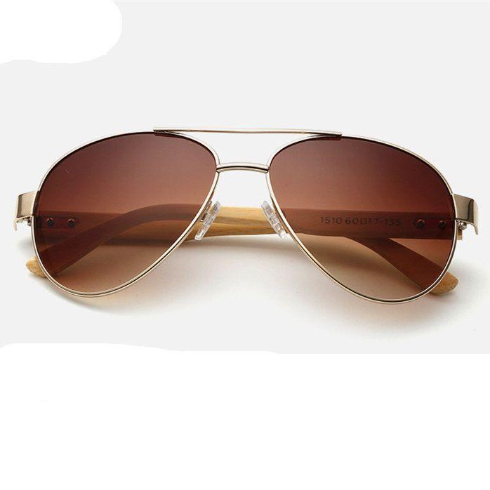 f298d5e9ce6 Men Women Bamboo Legs Metal Frames Sunglasses Outdoor Big Frame Goggle
