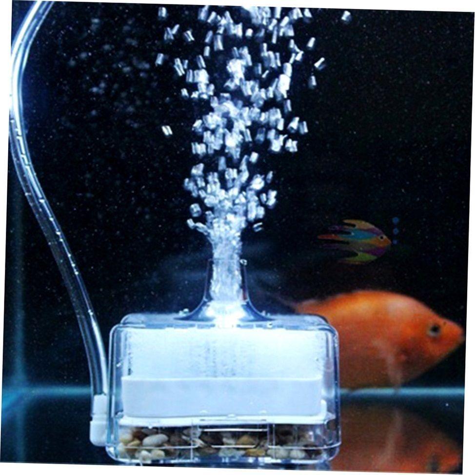 Aquarium Air Driven Biochemical Sponge Fish Tank Corner Filter