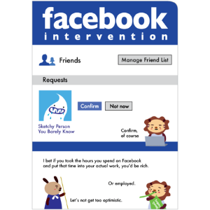 Facebook Intervention Birthday Card By Tomato Some Friends Deserve More Than Just Writing On Their Wall For