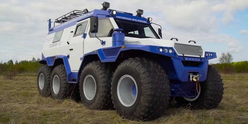 Eight Wheeled Extreme Russian Truck Video Trucks Built Truck Offroad
