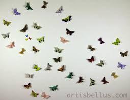 Resultado de imagen de decorating a wall with paper butterflies