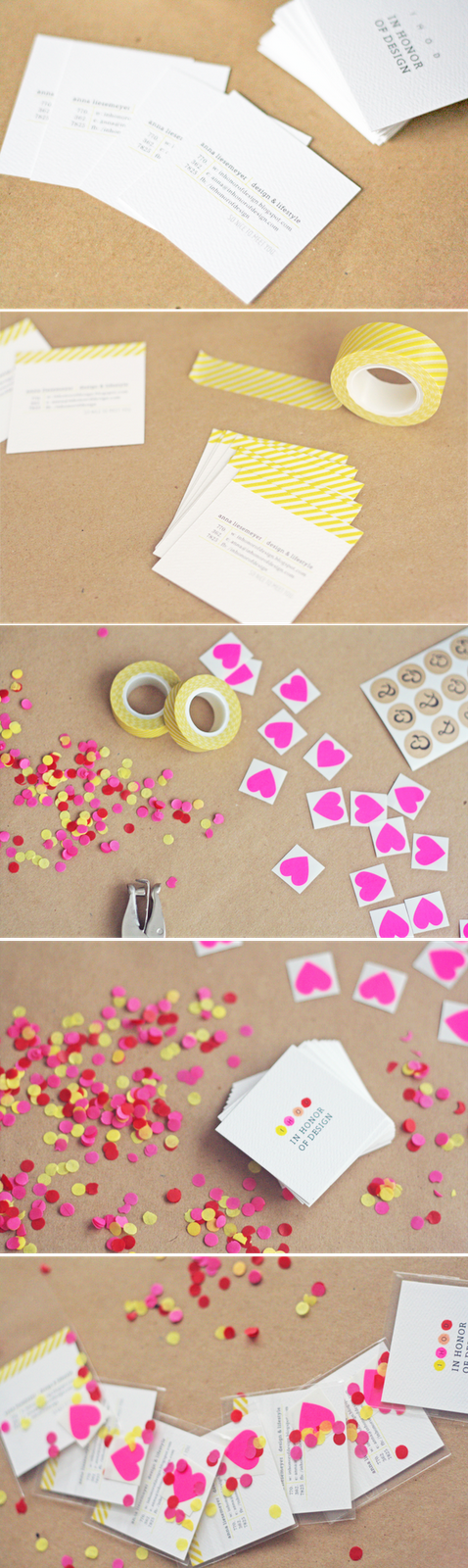 I am so flattered to be a part of in honor of designs diy business easy to make cards with tape confetti and stickers diy business reheart Gallery