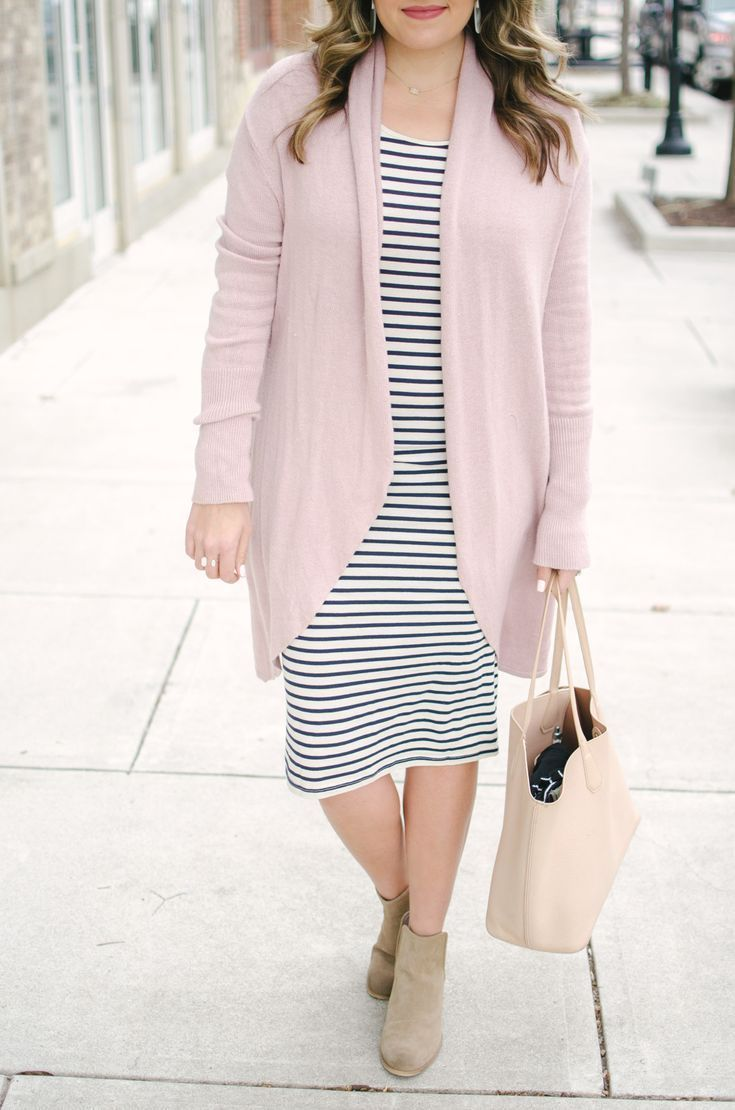 Striped dress two ways modest bloggers u fashion pinterest