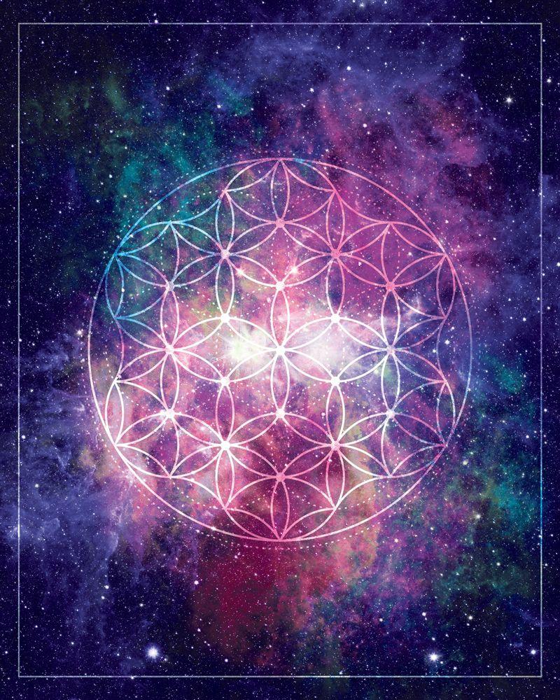 Flower Of Life Universe Art Poster Diy Gift Digital Download Etsy In 2020 Cosmos Art Flower Of Life Geometric Art