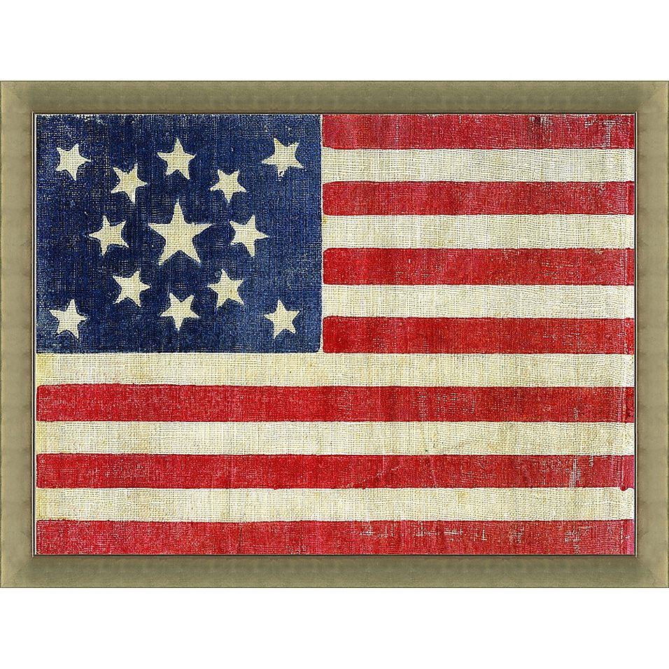 1876 Centennial 13 Star American Flag 34 Inch X 28 Inch Wall Art Bed Bath Beyond In 2020 American Flag Wall Art Wall Art Country Wall Art