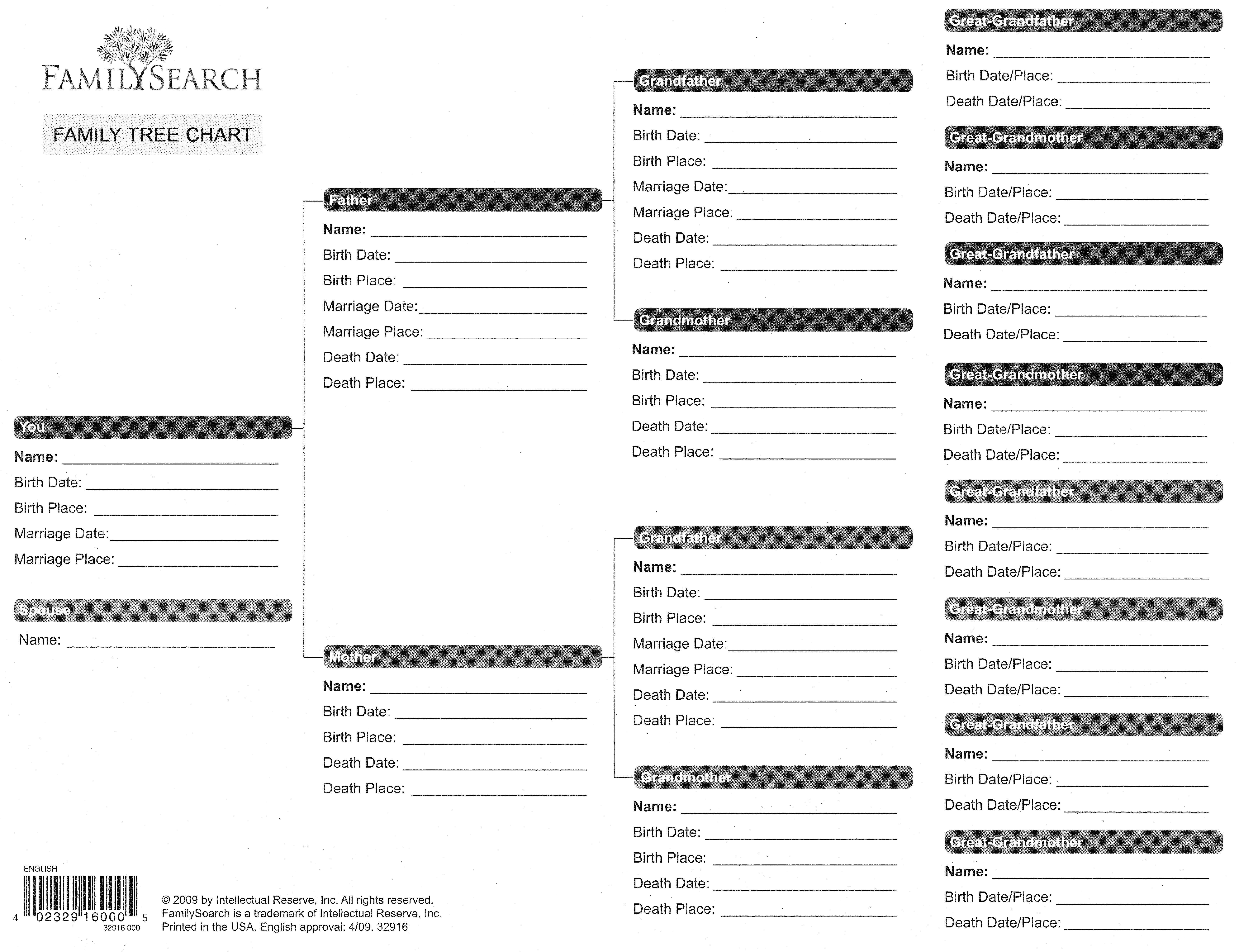 free printable genealogy forms client family tree blank uma
