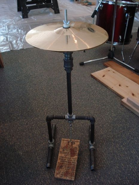How To Make A Hi Hat Stand Hat Stands Hi Hats Diy Musical Instruments