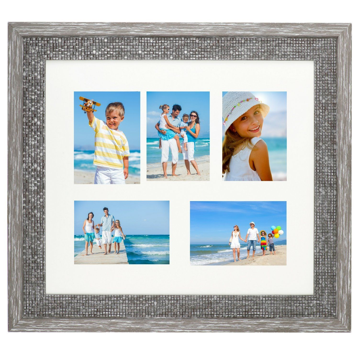 Icona Bay 4x6 Collage Picture Frame Displays Five 4x6 Inch Pictures With Mat Wood Finish 4 Collage Picture Frames Picture Frame Display Framed Photographs