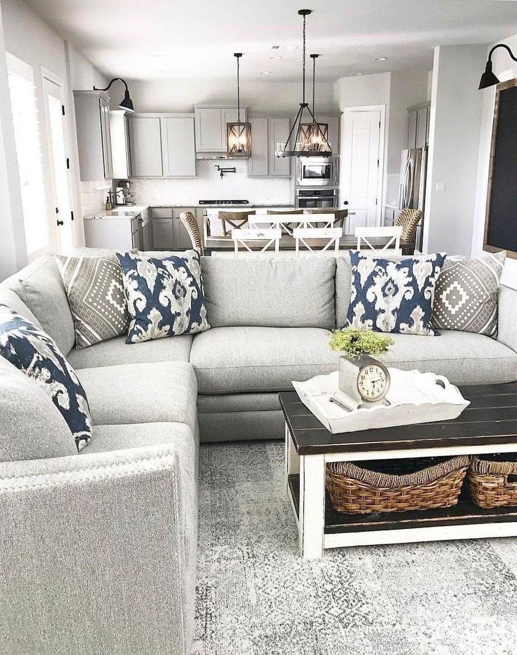 110 BEAUTIFUL MODERN FARMHOUSE LIVING ROOM DECOR IDEAS ...