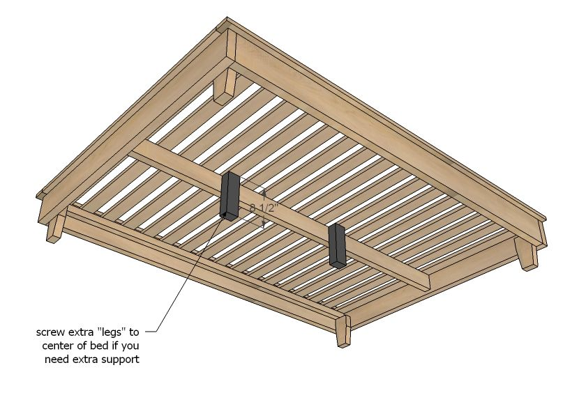 Hailey platform bed frame diy platform bed pallet