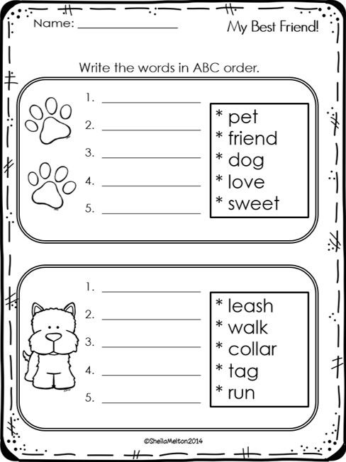 Spelling Activities {a Freebie} - ABC order sheet | TpT FREE ...