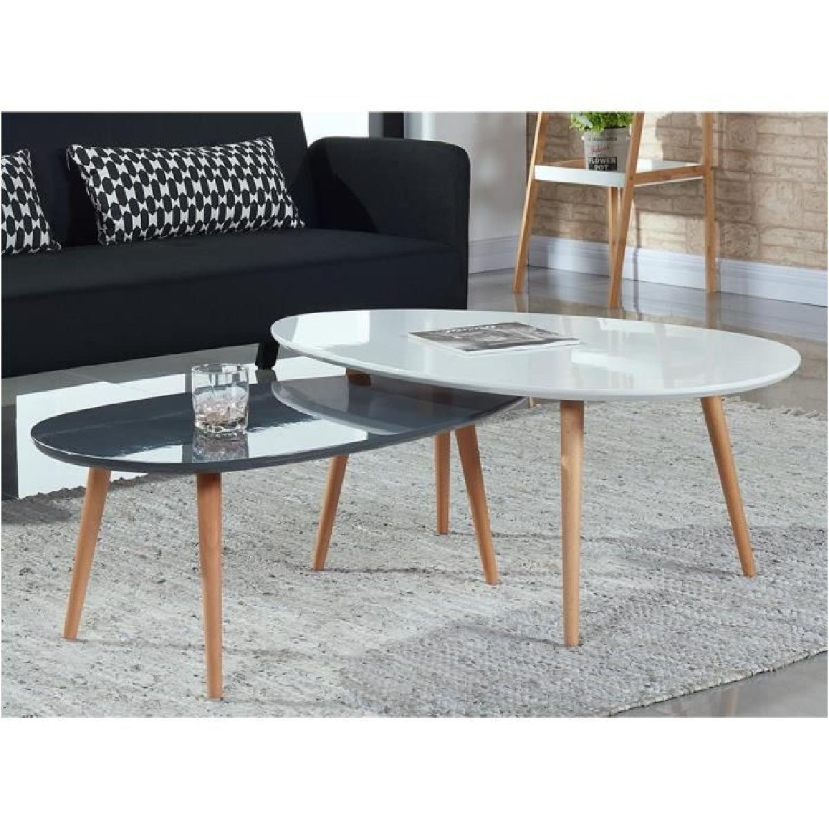 Petite Table Basse De Salon Table Basse Blanche Ronde 3670