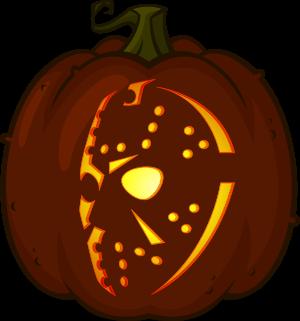 pumpkin template jason  Jason Voorhees pumpkin pattern in 6   Pumpkin carving ...