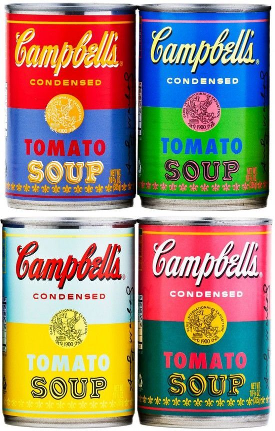 Andy Warhol Campbell's Soup Cans 2012 #andywarhol