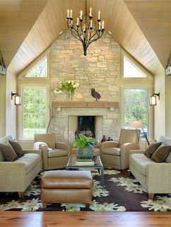 Rustic Contemporary Retreat - contemporary - living room - st louis - by Castle Design